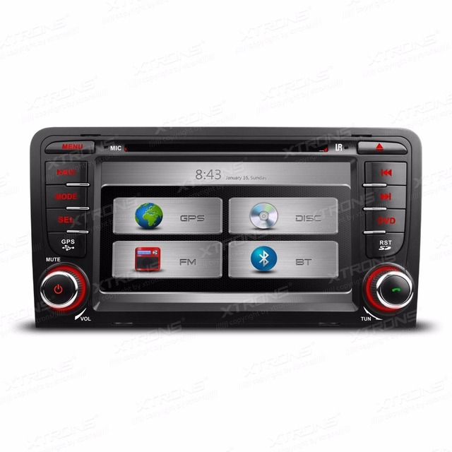 7 2 Din Car Gps Dvd Player For Audi A3 Touch Screen Car Radio