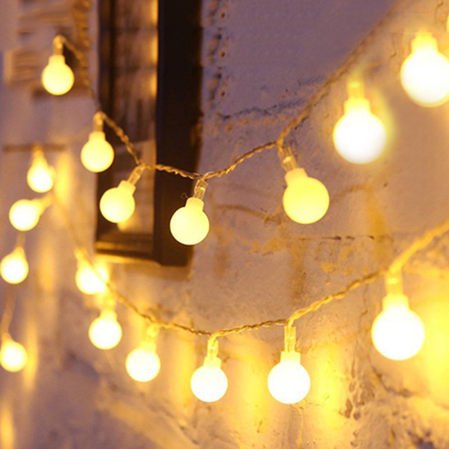 Thrisdar DC5V USB Powered Globe Ball Fairy LED String Light 3M 6M Battery Powered Outdoor Christmas Party Fairy Light Garland