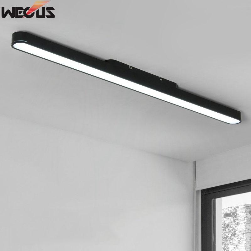 Einfache Moderne Aluminium Streifen Büro Licht LED Decke Lampe Studie Gang Flur Büro Lampen