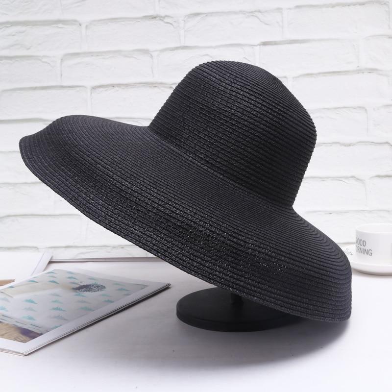 2019 Summer Wind Retro Sun Hat Female Holiday Sunscreen Beach Fashion Wild Sun Hat Big Grass  Sun Hats For Women