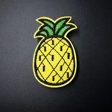 Pineapple (Size:6.0X3.4cm) DIY Cloth Badges Embroidered Applique Sewing Patches Clothes Stickers Apparel Accessories Patch(China)