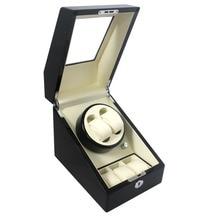 De Calidad superior 2 Automático Bobinadora Reloj De Madera + 3 caja de la Caja Cerraduras