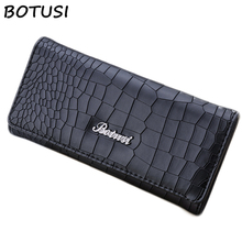 BOTUSI Crocodile Print Women Wallet Purse Female Long Zipper Coin Overwatch Credit Card Pocket Dropshipping