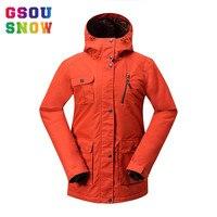 2016 Winter Ski Jackets Women Gsou Snow Brand Professional Snowboard Jacket Waterproof 10000 Breathable 1000 Ladies