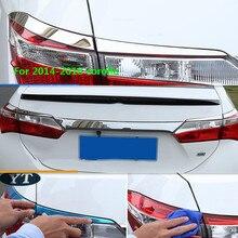 Авто задний светильник Накладка для Toyota Corolla-, нержавеющая сталь, автомобильные аксессуары