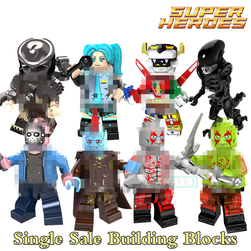 Single Sale Super Heroes Yondu Movie Series Voltron Team Godmars Black Blue 1pc Building Blocks Education For Kids Toys 8styles