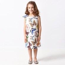 63ba1a905 الفتيات فستان صيفي Vestidos 2019 العلامة التجارية جديد الاطفال حزب فساتين  للفتيات زي الأميرة اللباس فراشة
