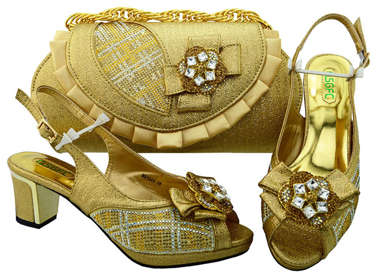 Fashion African shoe and bag set for party Italian shoe with matching bag new design lady matching shoe and bag doershow italian shoe with matching bag silver african shoe and bag set new design matching shoes and bags for party bch1 7
