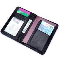 Genuine Leather Travel Passport Holders Passport Cover Business Passport Case Credit Card Holder Russian Wallet Document