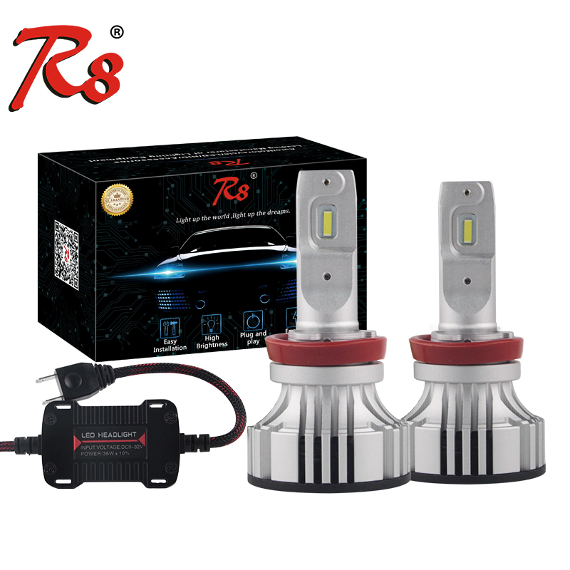R8 Car F2 H4 Hi/ Lo LED Headlight Bulb Fog lamp with 12V Canbus H7 H11 LED Decoder headlamp Warning Canceller EMC Load Resistor free shipping 1 piece hid decoder canceller h4 h13 9007 50w 6 8 ohm no error load resistor no flickering warning canceller