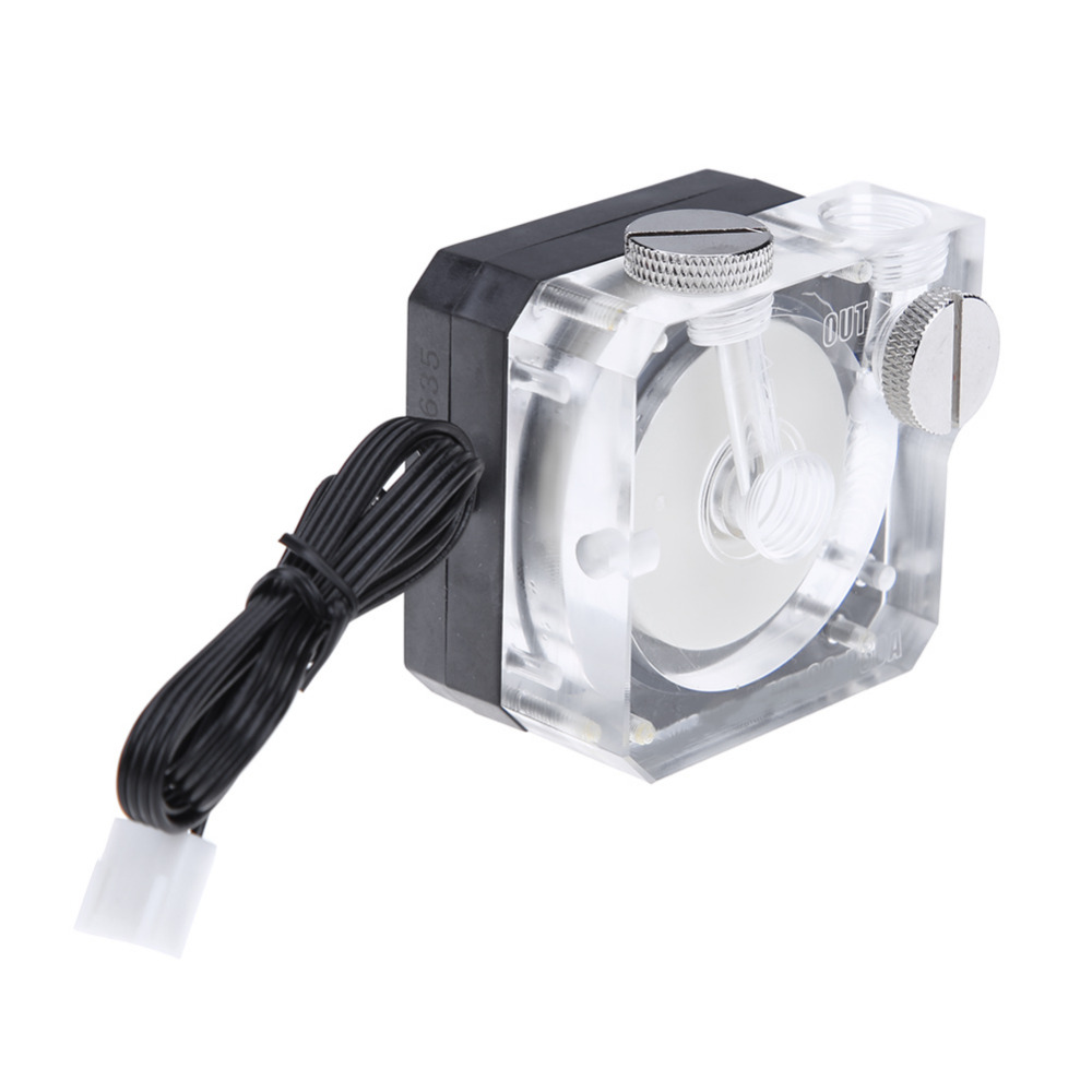 DC 12V 0.5A Super Silent Water Circulation Cooling Pump G1/4 thread Tube Connector 4pin Pump For PC Water Cooling System