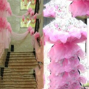 Image 2 - 10 Mét/lô 48Cm Sợi Pha Lê Voan Đàn Organ Sheer Gai Nguyên Tố Cho Bé Gái Sinh Nhật Tự Làm ĐẦM CƯỚI Trang Trí Vật Dụng