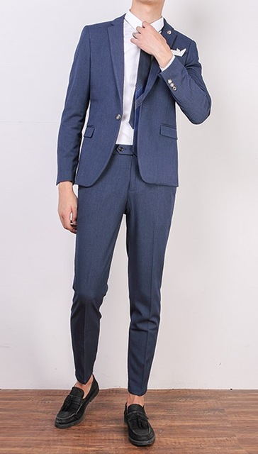 Casual Stylish Mens Suits 2Pieces Men 2018 Tuxedos For Party Prom Italian Stylish Wedding Mens Suits (Jacket+Pants+Tie)
