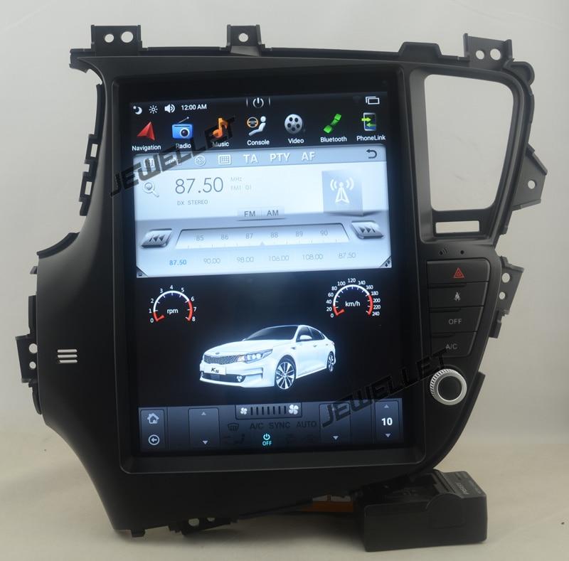 12.9 tesla style vertical screen android 7.1 Quad core Car GPS radio Navigation for Kia Optima K5 2011 2013
