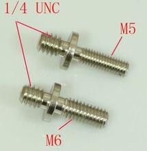 """2×1/4 """"Adaptadores de Rosca macho M5 & M6 Rosca Macho de parafuso para tripé de câmera (pacote de 2)"""