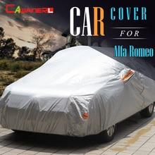 Cawanerl Покрытие Автомобиля Авто Анти УФ Вс Снег Дождь Защитная Крышка навес Для Alfa Romeo 147 156 159 166 GT Giulietta MiTo Brera