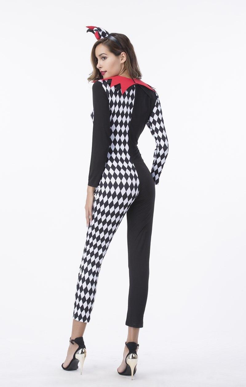 M Xl Adult Women Halloween Circus Clown Costume Magic Burlesque Show