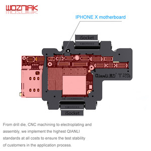 Image 4 - WOZNIAK QIANLI iSocket עבור iPhone x xs/xs מקס האם מבחן קבועה עבור IPHONEX פעמיים סיפון האם פונקציה tester