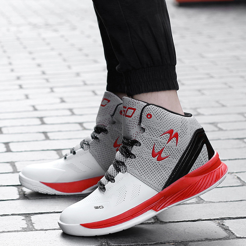 New high-top basketball shoes, super grip, non-slip outsole, cushioning and wear-resistant sports basketball shoesNew high-top basketball shoes, super grip, non-slip outsole, cushioning and wear-resistant sports basketball shoes