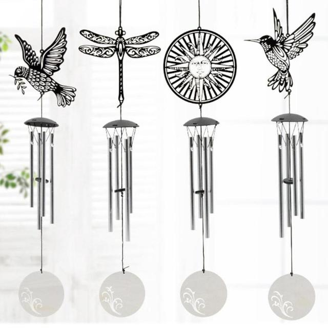 Hot Stainless steel bucolic style multi tube wind bell decoration ...