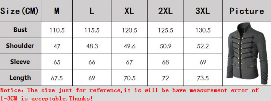 f1355d2d7d83 Aliexpress.com : Buy Men's Military Jacket Vintage Victorian Gothic Coat  Steampunk Frock Uniform Buttons S 3XL from Reliable Jackets suppliers on  Lucy-Ma ...