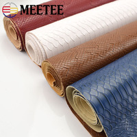 Meetee 90x137cm 1.2mm Thick Leather Fabric Artificial Synthetic Snake Leather PVC Material for Luggage Wallet Belt DIY Accessory