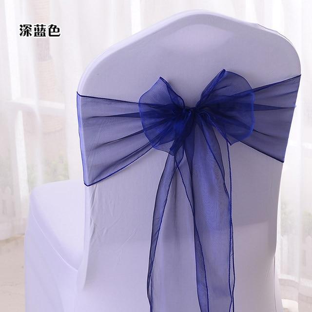 online shop mixed color 100 cadbury purple organza chair sashes bow