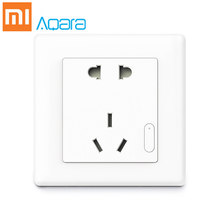 Xiaomi Aqara Wall Socket PVC ZigBee Wifi Smart Remotel Control Wireless Switch Work Smart Wall Socket(China)