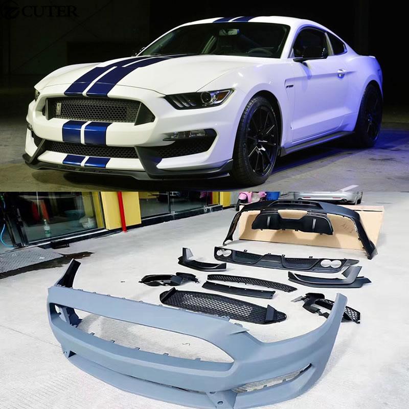 Frp Wide Car Body Kit Unpainted Front Bumper Carbon Fiber Front Lip