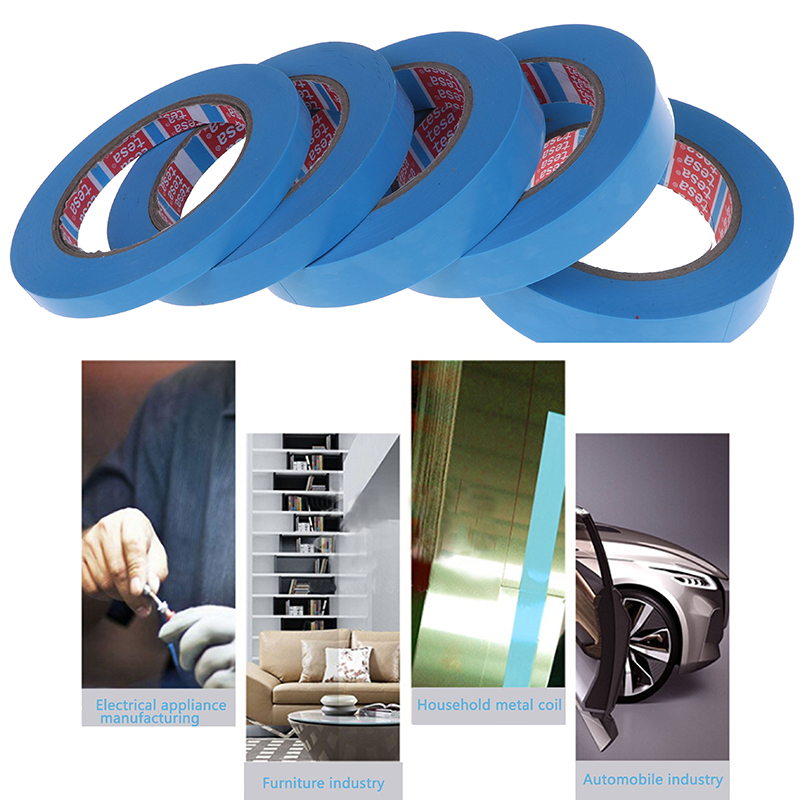 Blue Refrigerator Tape Fixed Tape Air Conditioning Parts No Trace Single-sided Tape Appliance Facsimile Printer 1Roll 50M