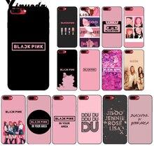 Yinuoda BLACK PINK k-pop BLACKPINK kpop Soft Silicone black Phone Case for iPhone 6S 6plus 7 7plus 8 8Plus X Xs MAX 5 5S XR