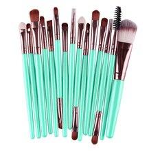 New Designer 15 pcs Makeup Brush Set tools Make-up Toiletry Kit Wool Make Up Brush Set  Goat hair Make up brush Anne