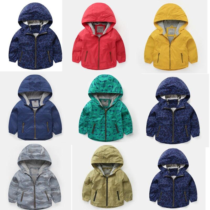 Spring Jacket Coats Windbreaker Girls Baby Boys Fashion Clothing Kids Outerwear Canvas