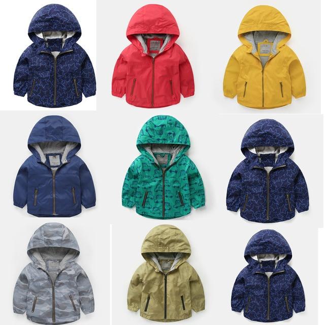 cd0f2127690a 2019 Spring Jacket Boys Girls Kids Outerwear Cute Car Windbreaker ...