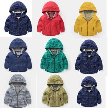 2019 printemps veste garçons filles vêtements d'extérieur pour enfant mignon voiture coupe-vent manteaux mode impression toile bébé enfants vêtements
