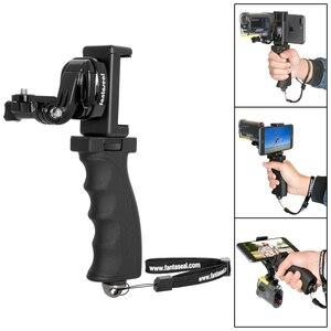 Image 2 - Fantaseal Action Kamera Hand Grip Halterung + Handy Clip für Sony AS200V AS300R FD X3000R SJCAM Getriebe 360 Stabilisator Halter