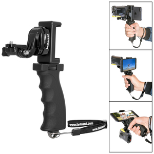 Image 2 - Fantaseal eylem kamera el kavrama dağı + cep telefonu klip Sony AS200V AS300R FD X3000R SJCAM dişli 360 sabitleyici tutucu