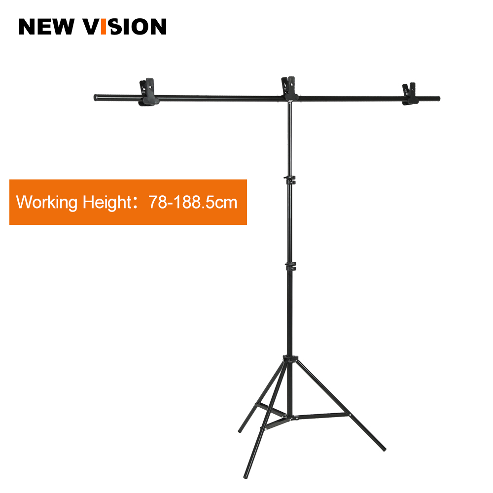 Photography Big PVC Backdrop Background Support Stand System Metal with 3 clamps Max 152cm X 200cm