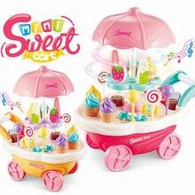 1338e8dc88 30 pz Rotante Ice Cream e Caramelle Carrello Giochi di imitazione Cibo  Supermercato Trolley Giocattoli con