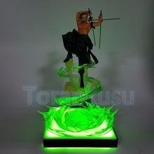 One Piece Action Figure Roronoa Zoro Green LED Effect Base DIY Display Toy Anime One-Piece Gokutora Hunting DIY146