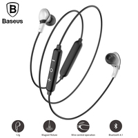 Baseus S04 Bluetooth Earphone Wireless Headphones Lightweight Neckband Magnetic Auriculares Kulakl K With Microphone For Xiaomi