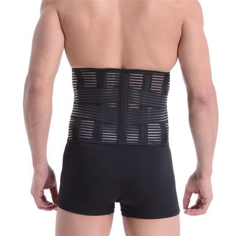 Men Medical Corset Back Lumbar Support Back Brace Support Belt 5PCS Bones Massager Waist Protection Magnetic Theropy AFT-B13