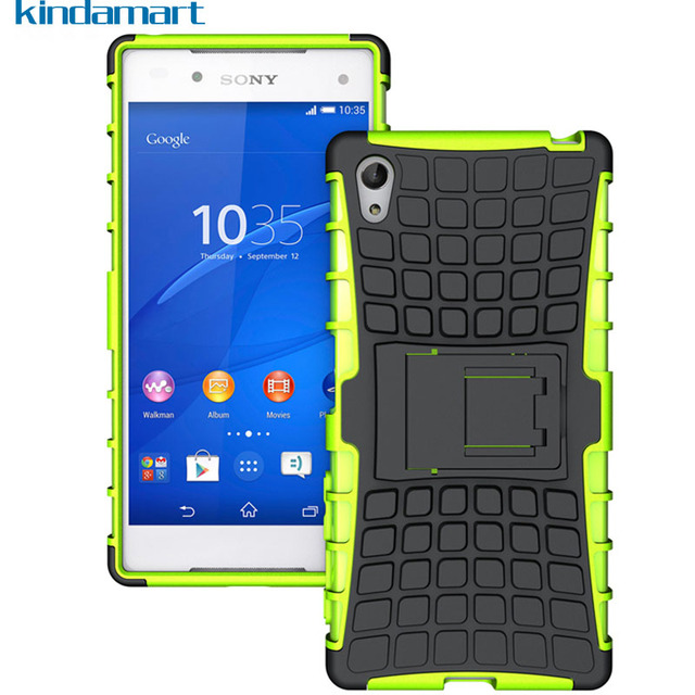 quality design 0aa8b e3728 US $2.99 |Hybrid Hard Case For Sony Xperia Z5 Case Cover Shockproof Bumper  Rugged Silicone Case on Sony Z5 Dual E6603 E6653 Coque Funda-in Fitted ...