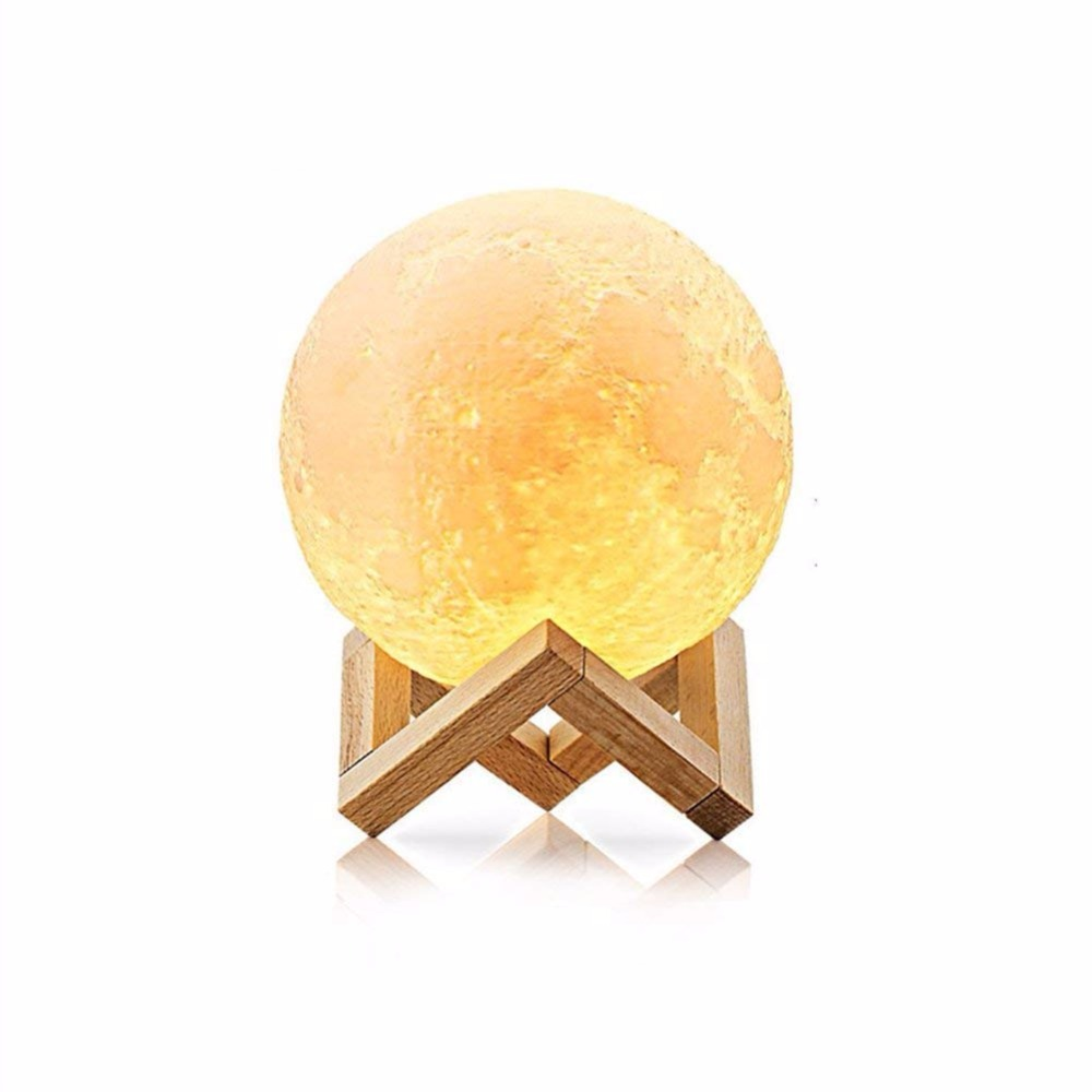 Led Color Ball 3D Printing Moon Lamp Usb Touch Night Light Luminaria Bedroom Light Lamps Change for Children Home Decor Lights накладной светильник toplight rosamond tl9421y 01wh