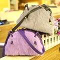 Pacote de cabelo do coelho 2016 nova pele do inverno saco de pelúcia saco de moda feminina, japão e pacote de shell de um ombro seu pequeno saco