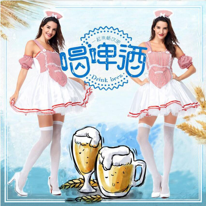 2019 Adult Women Oktoberfest Cosplay Fancy Dress German October Beer Munich Maid Costume Bavaria Carnival Festival Party Dress