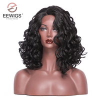Synthetic Lace Front Wig Body Wave Wigs Natural Italian Yaki Hair L Side 3D Shaped Lace