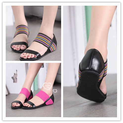 For Women Elastic Band And Flat Shoes