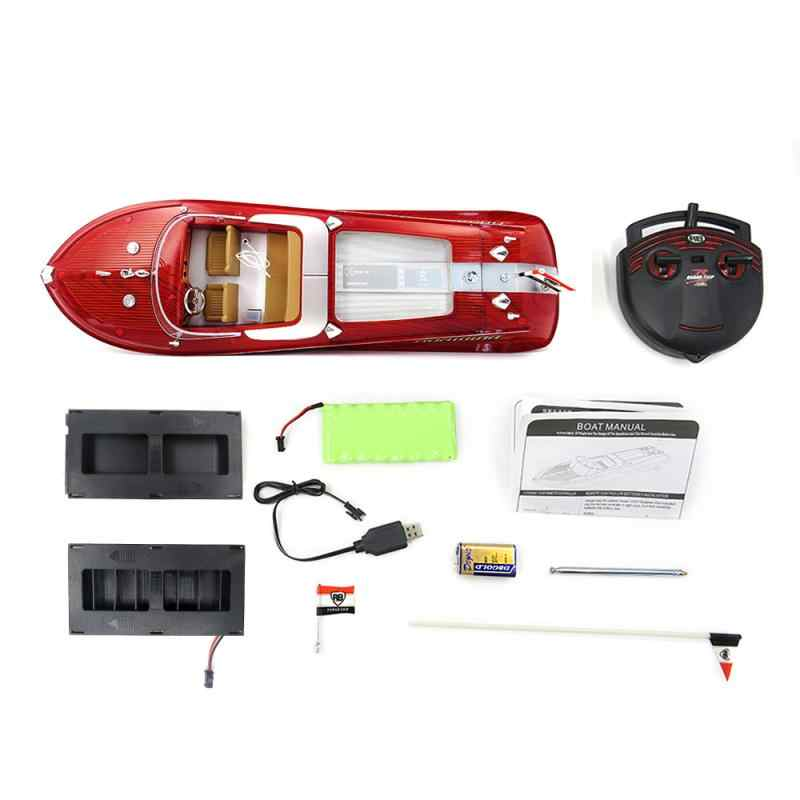 Panas Baru Flytec HQ2011-1 46 Cm 27 MHz 4CH 15Km/Jam Kecepatan Tinggi Balap RC Perahu Berlayar Daya Tinggi Isi Ulang battery untuk Anak-anak Hadiah