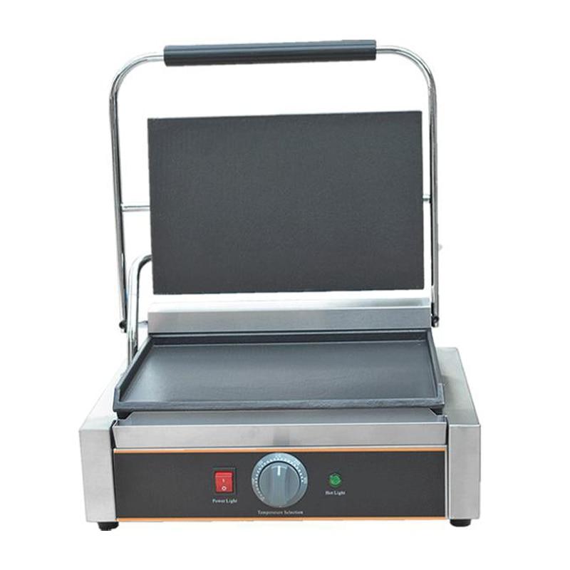 220V Electric Commercial Grill Flat BBQ Grill Electric Sandwich Steak Toaster High Quality Single Plate EU/AU/UK/US Plug стоимость